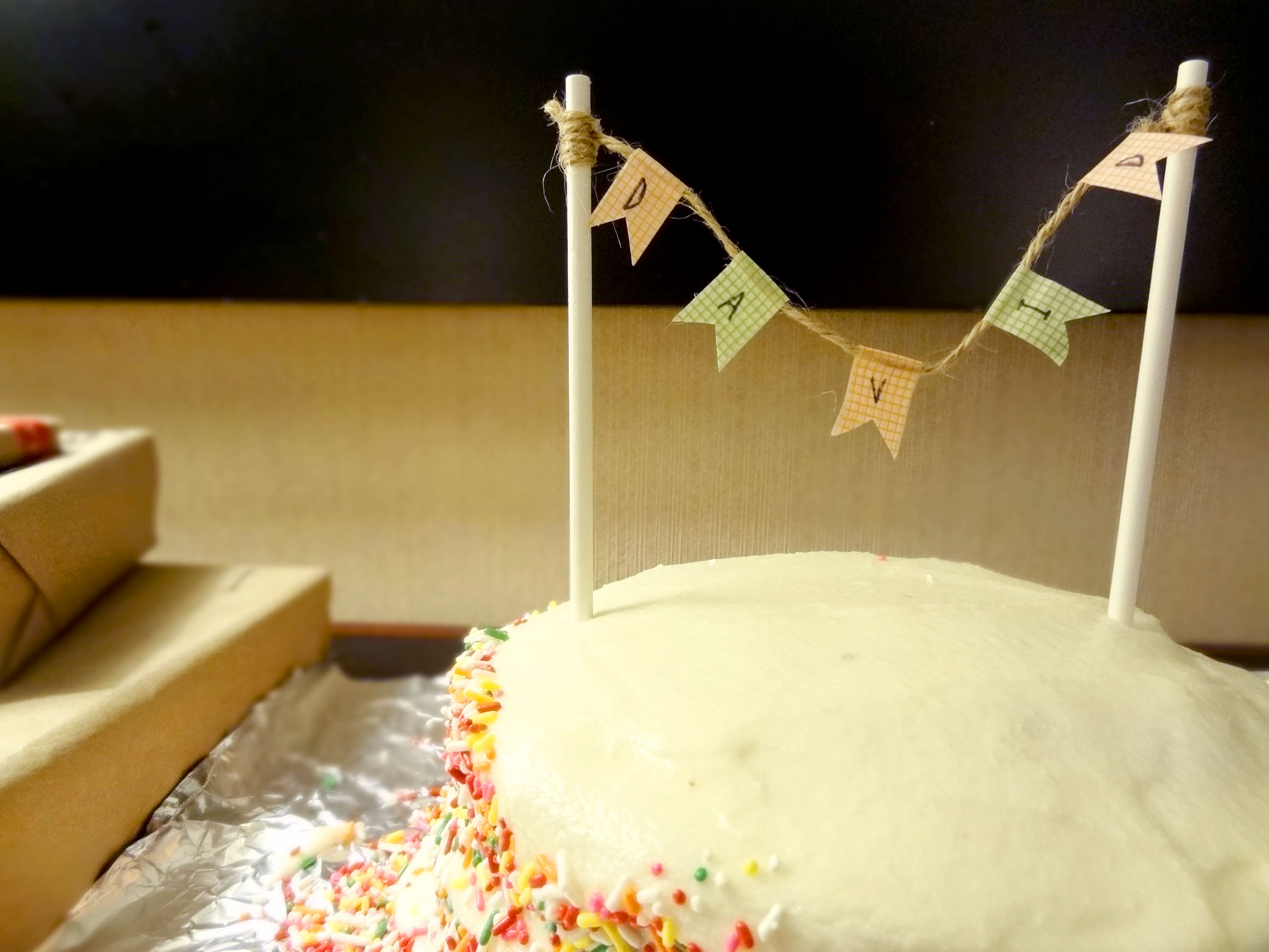 DIY a birthday cake banner Welcome Home Taylor